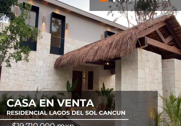 CASA EN VENTA EN CANCUN RESIDENCIAL LAGOS DEL SOL