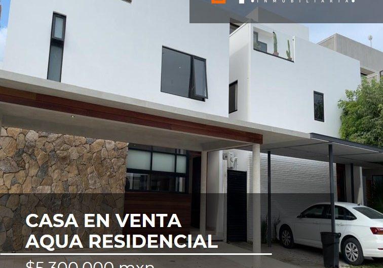 CASA EN VENTA RESIDENCIAL AQUA BY CUMBRES CANCÚN