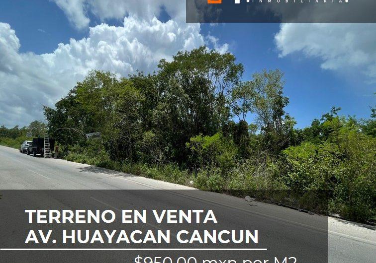 Terreno en venta en Av. Huayacan Cancun