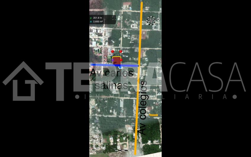 Terreno comercial y habitacional en venta, Av. colegios y carlos salinas