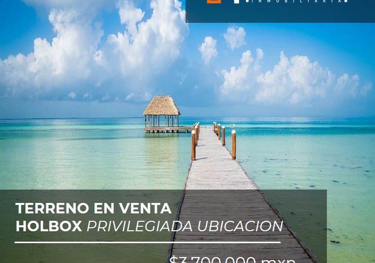 Terreno en venta Holbox privilegiada ubicacion